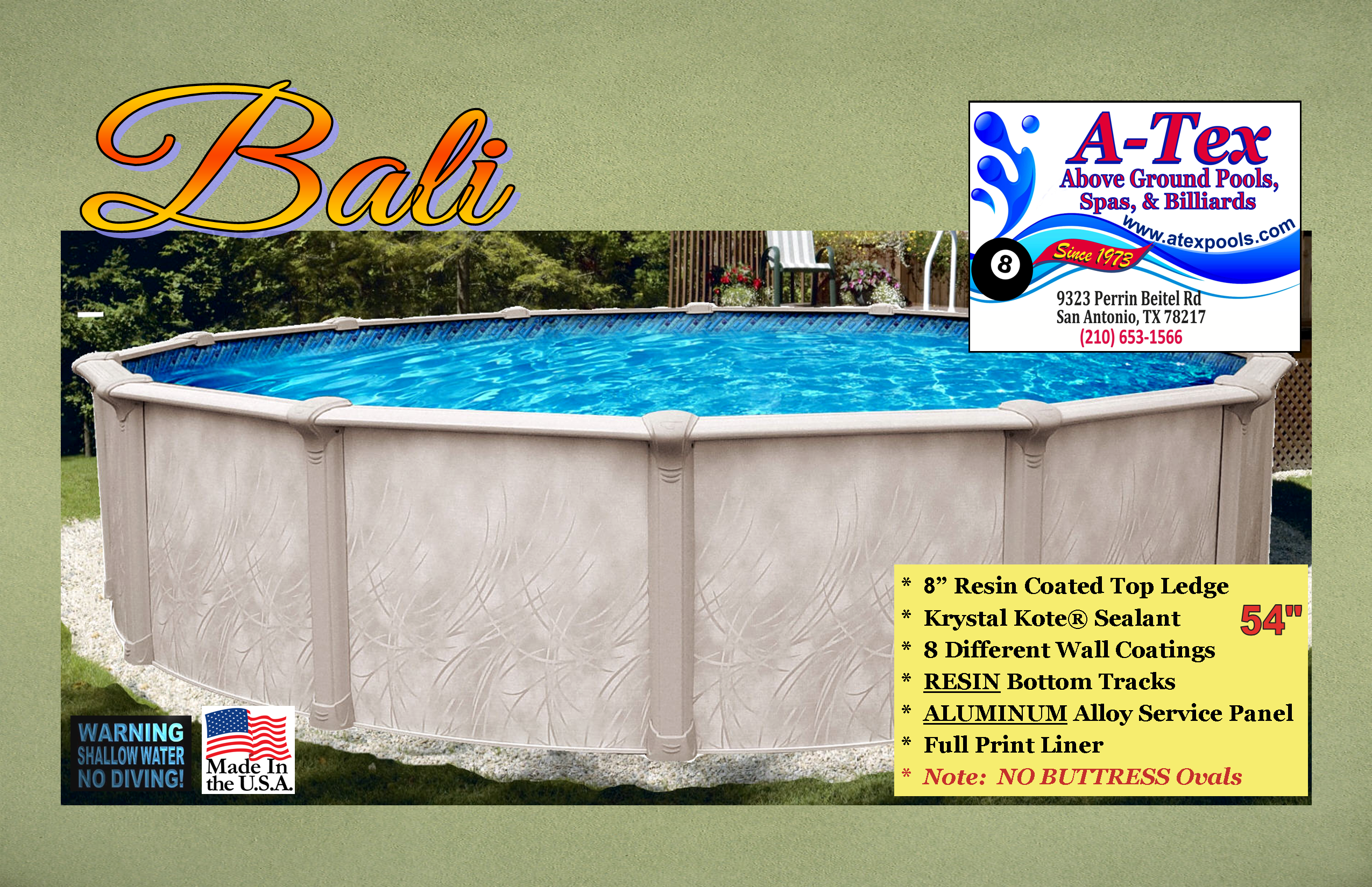 A Tex Above Ground Pool