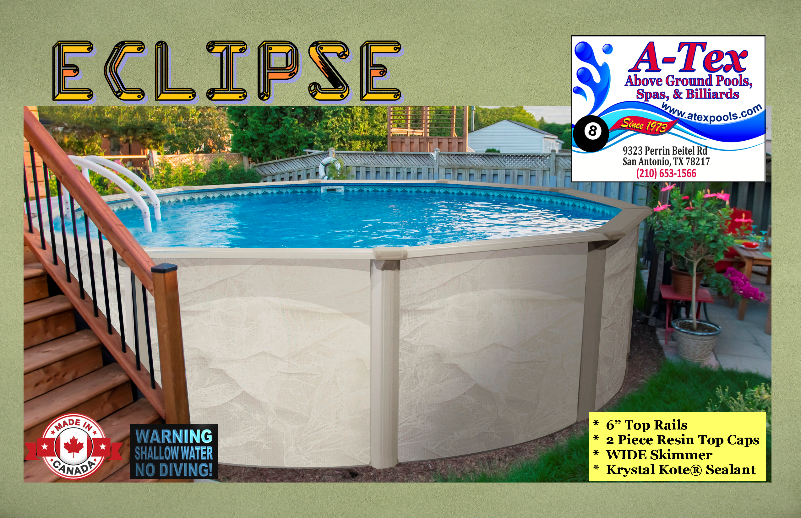 A Tex Above Ground Pools Are Available In Many Round And Oval Sizes