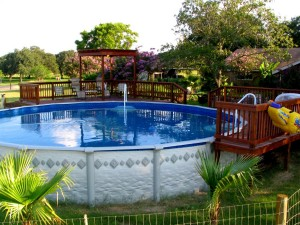 Round Pool-Decked